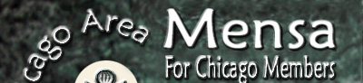 Chicago Area Mensa banner
